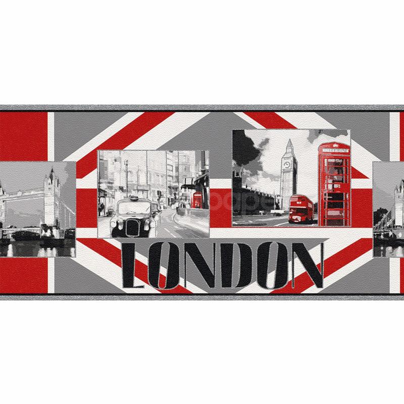 Rasch London Landmark Wallpaper Border 237702 800x800