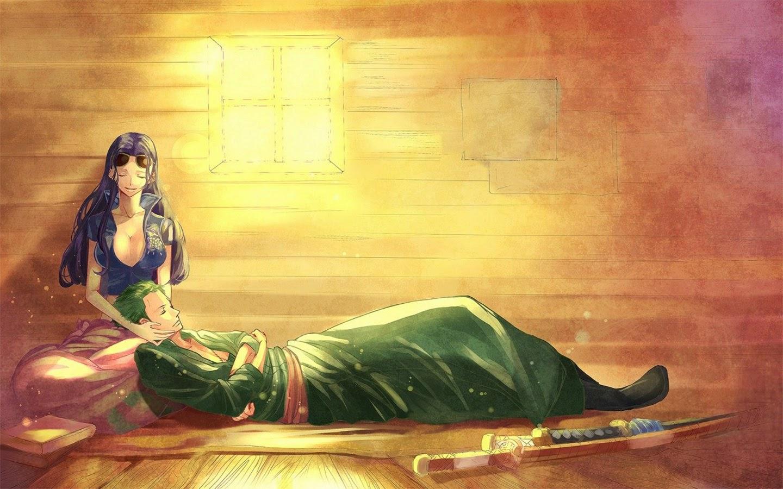 nico robin roronoa zoro anime couple one piece hd wallpaper y09 1440x900