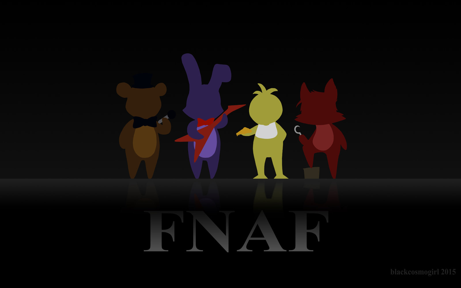 FNAF wallpaper 1680 x 1050 by blackcosmogirl 1600x1000