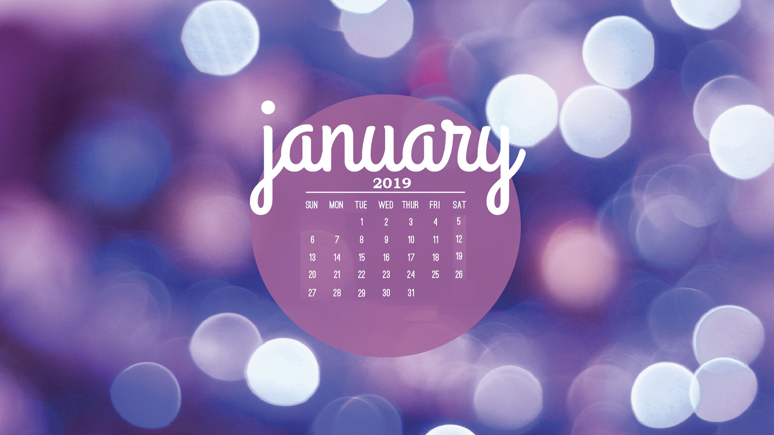 January 2019 HD Calendar Wallpapers Calendar 2019 2560x1440