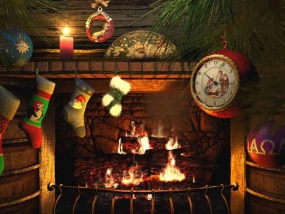 Christmas Fireplace Desktop Wallpaper Aleals Wallpaper Desktop HD 588x441