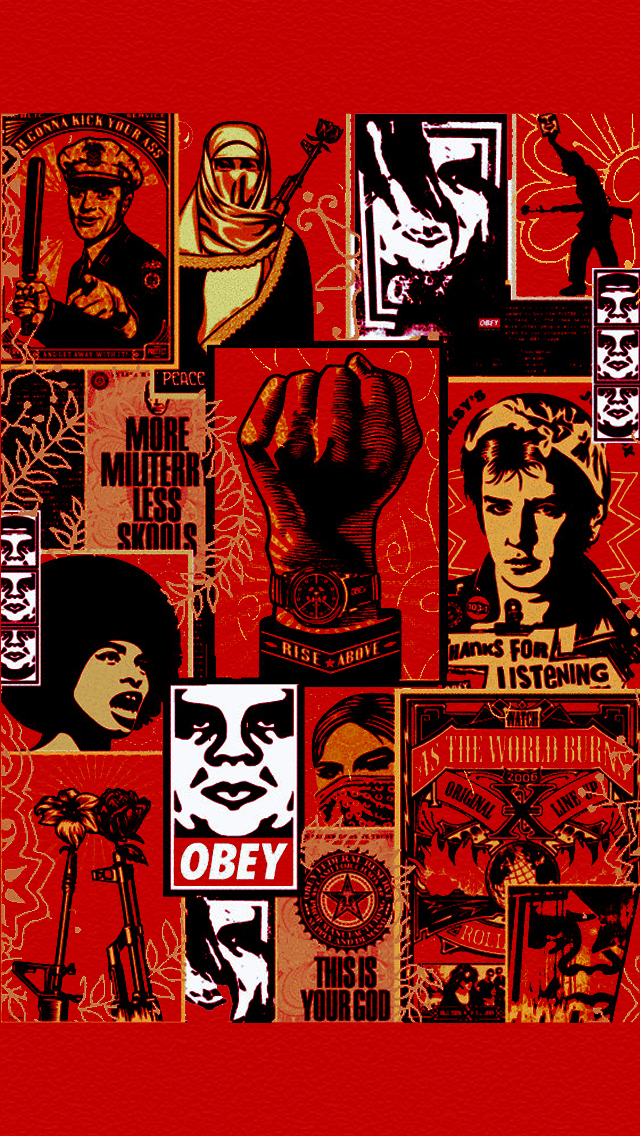 Obey Wallpaper Iphone 5 Obey lock screen wallpaper 640x1136