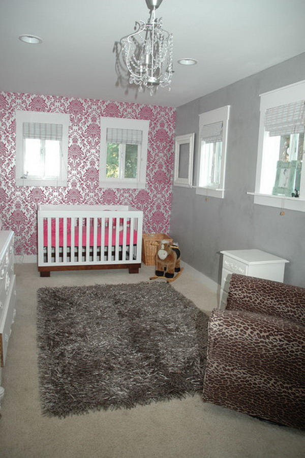 Wallpaper for baby girls room wallpapersafari for Baby room decoration wallpaper