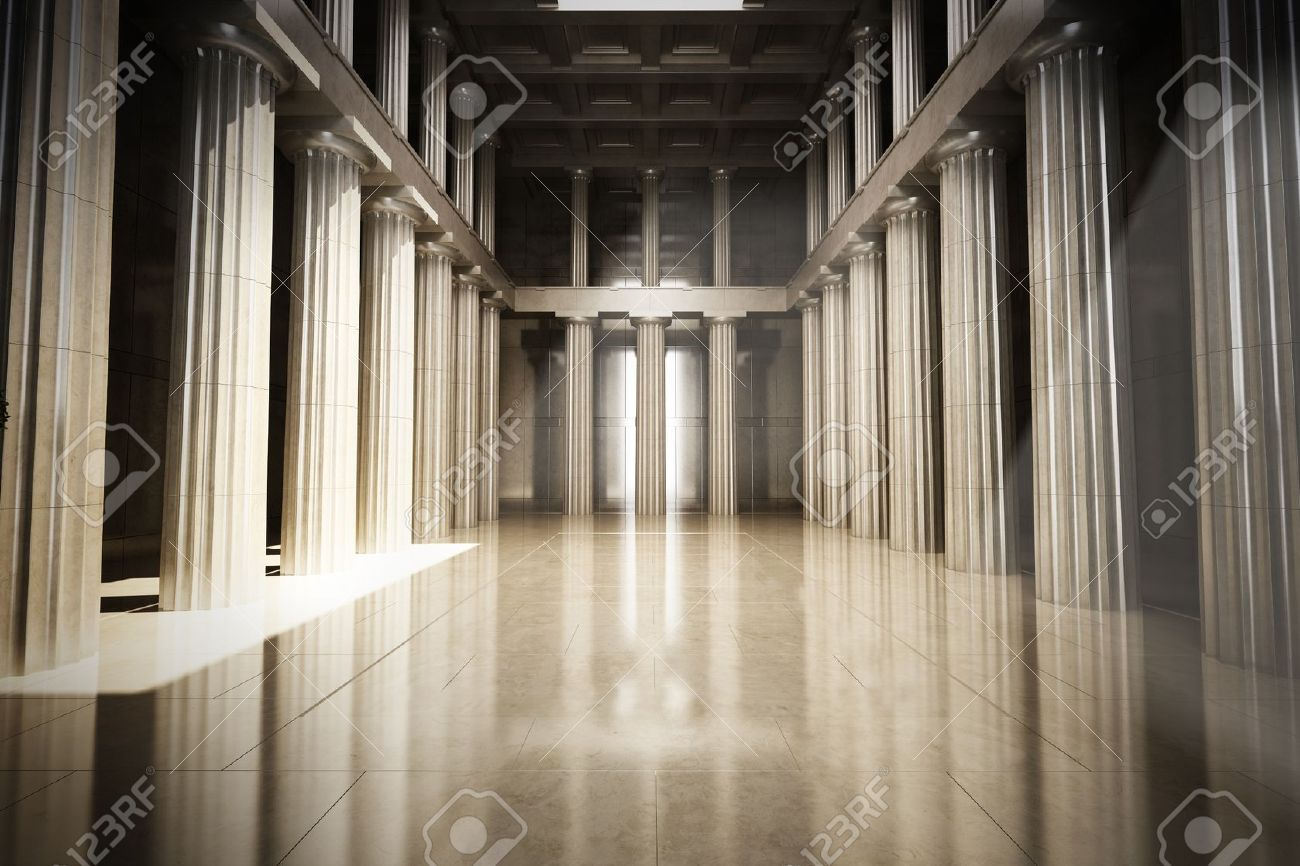 Column Interior Empty Room Law Or Government Background Concept 1300x866