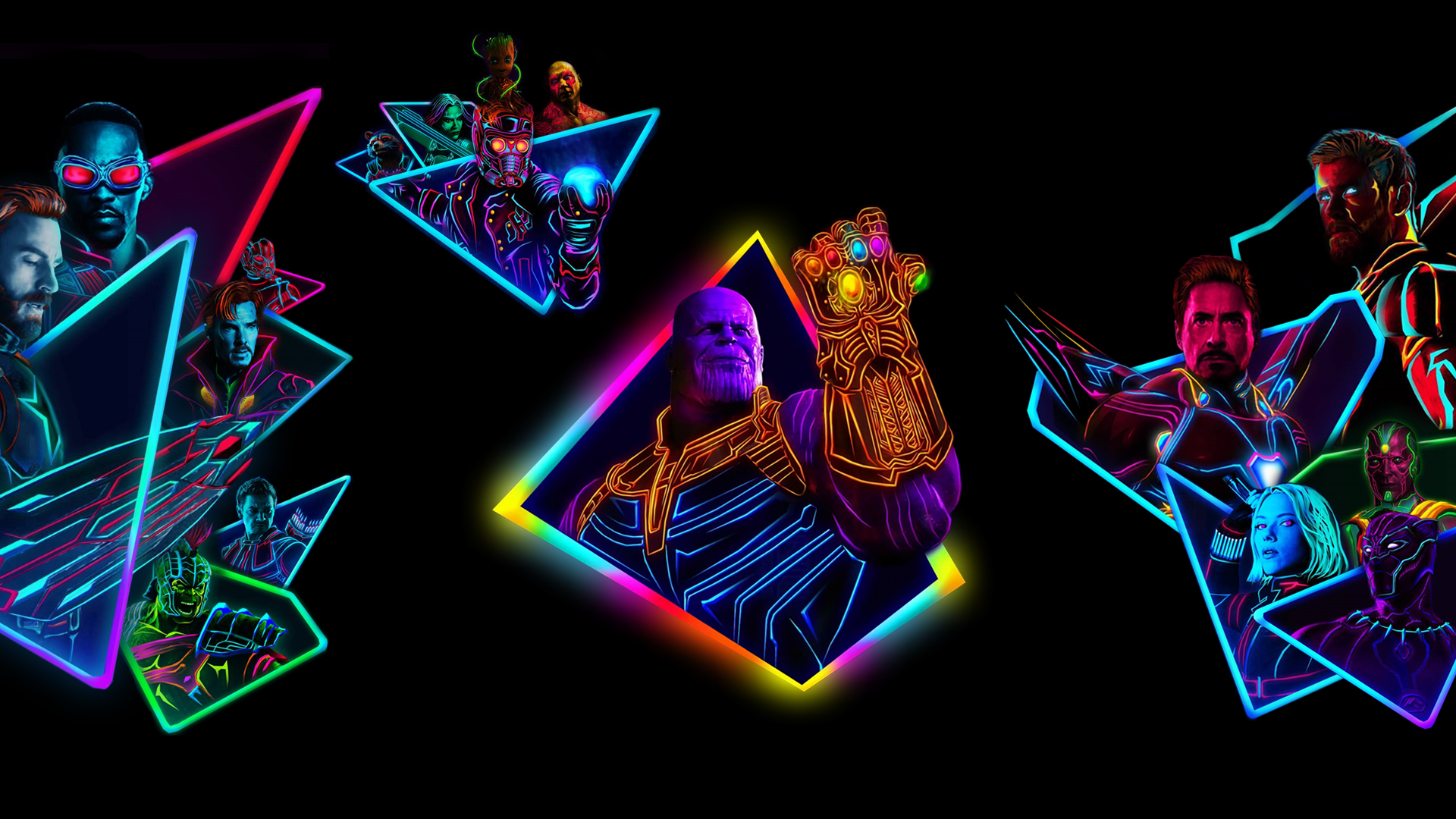 27 Neon Avengers Wallpapers On Wallpapersafari