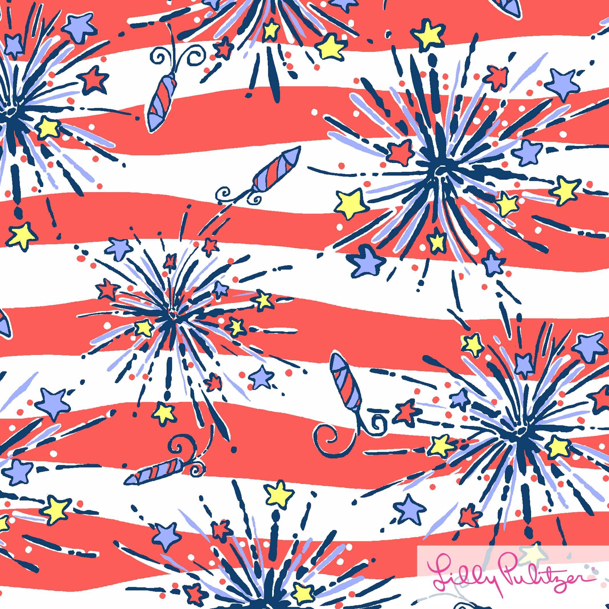 lp 4th of july print art design Lilly pulitzer prints 2134x2134