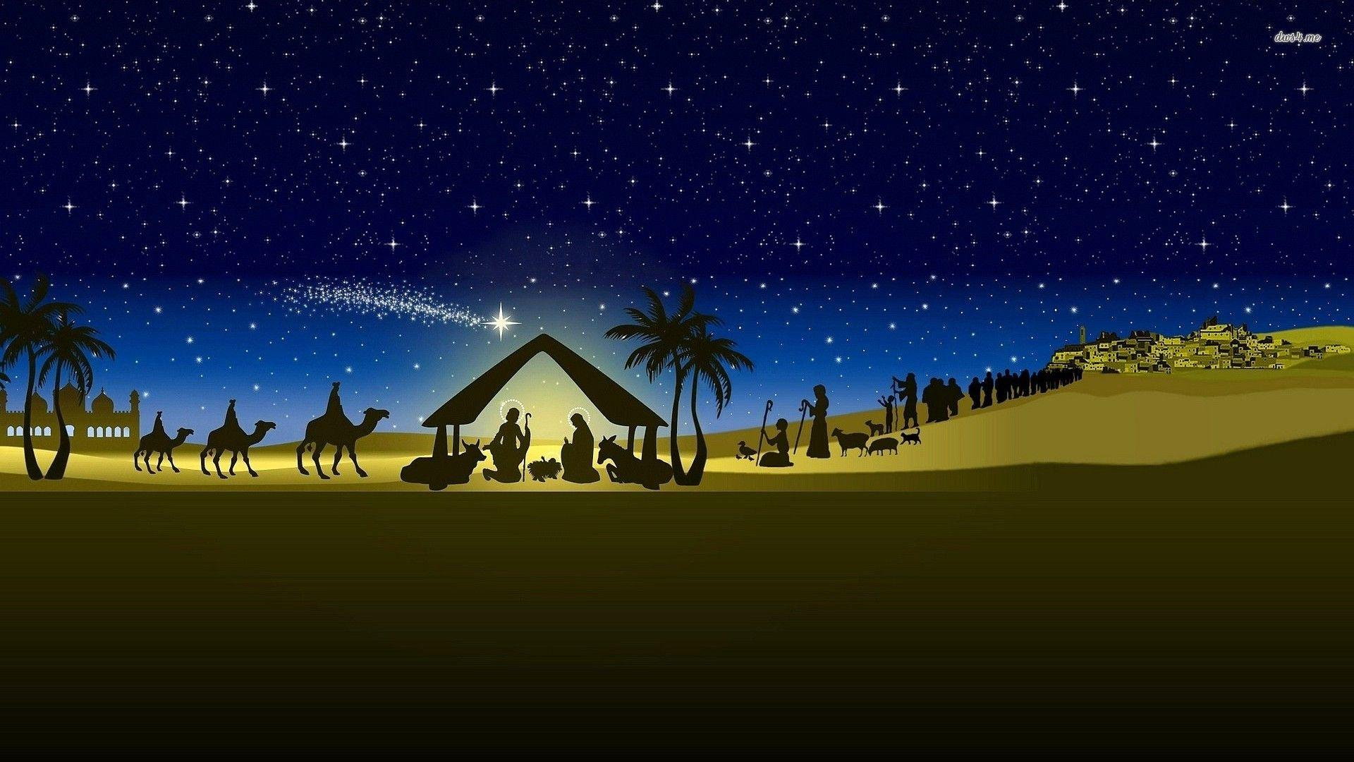 Nativity Scene Backgrounds 1920x1080