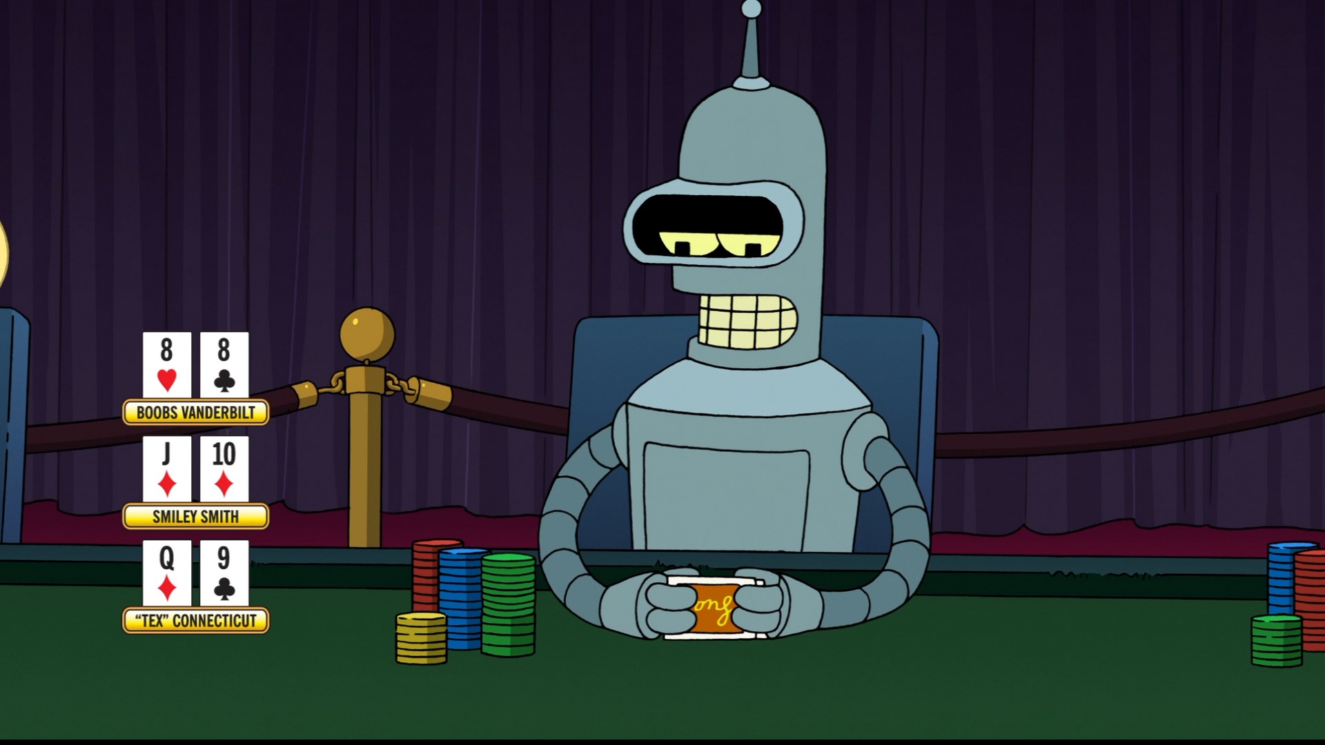 Bender futurama poker 1920x1080