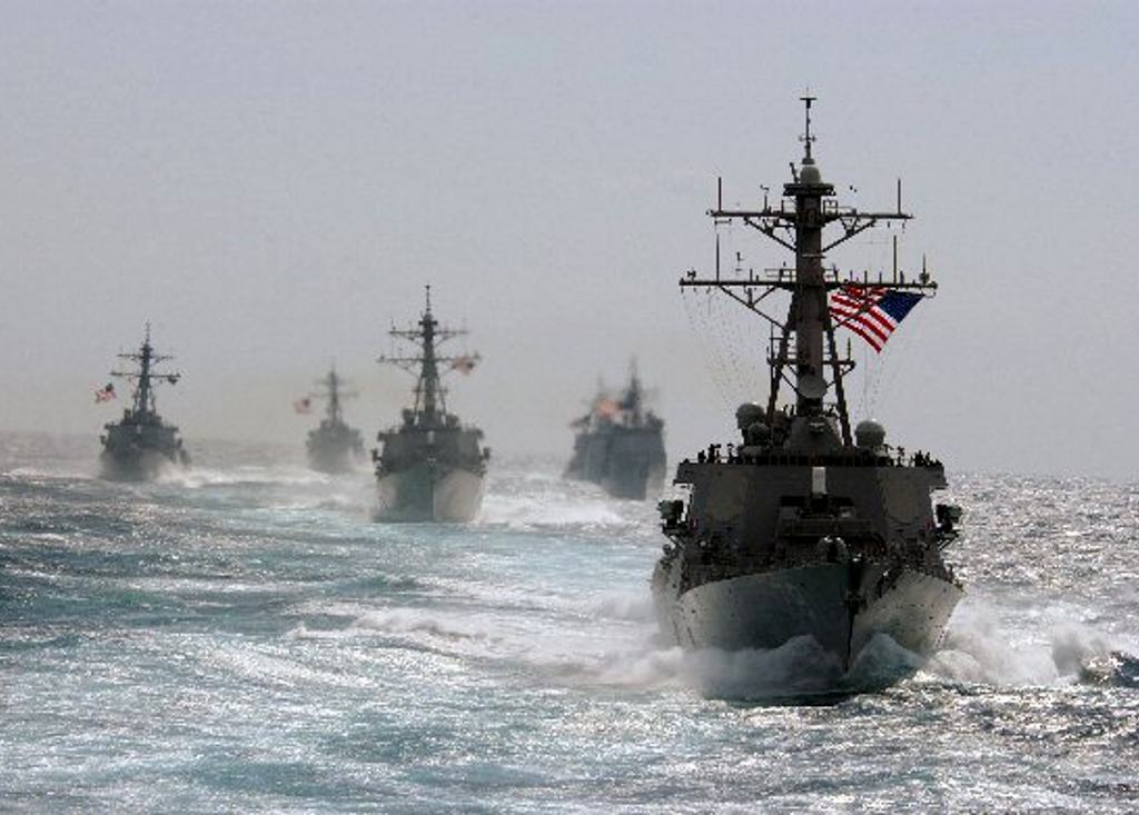 US Navy Ships At Sea Background Image Wallpaper or Texture for 1024x733