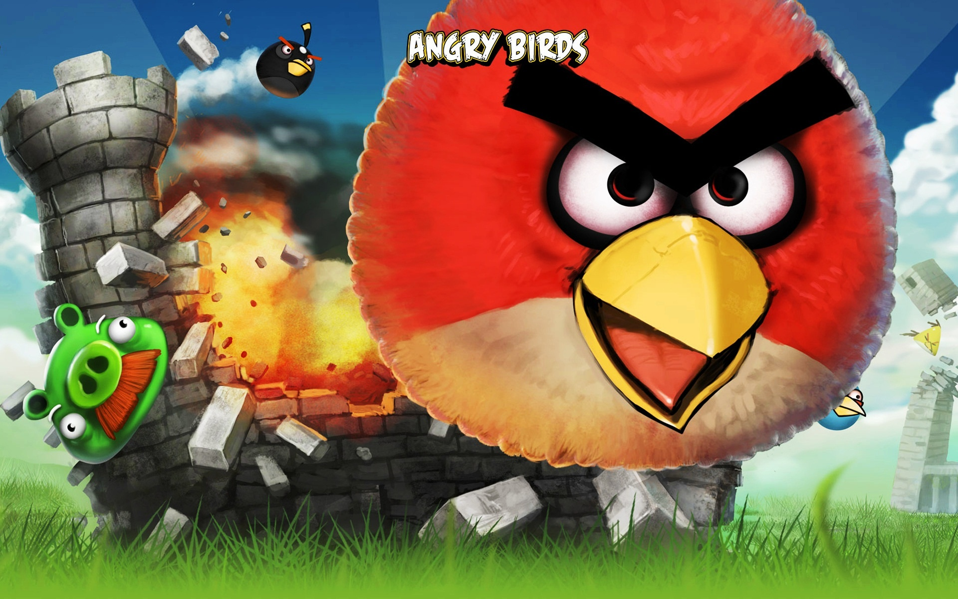 Angry Birds iPhone Game Wallpapers HD Wallpapers 1920x1200