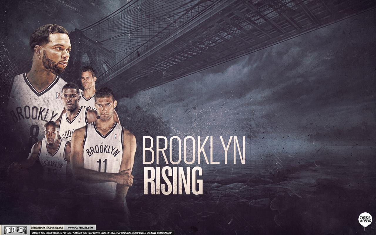 Brooklyn Nets Rising Wallpaper Posterizes NBA Wallpapers 1280x800