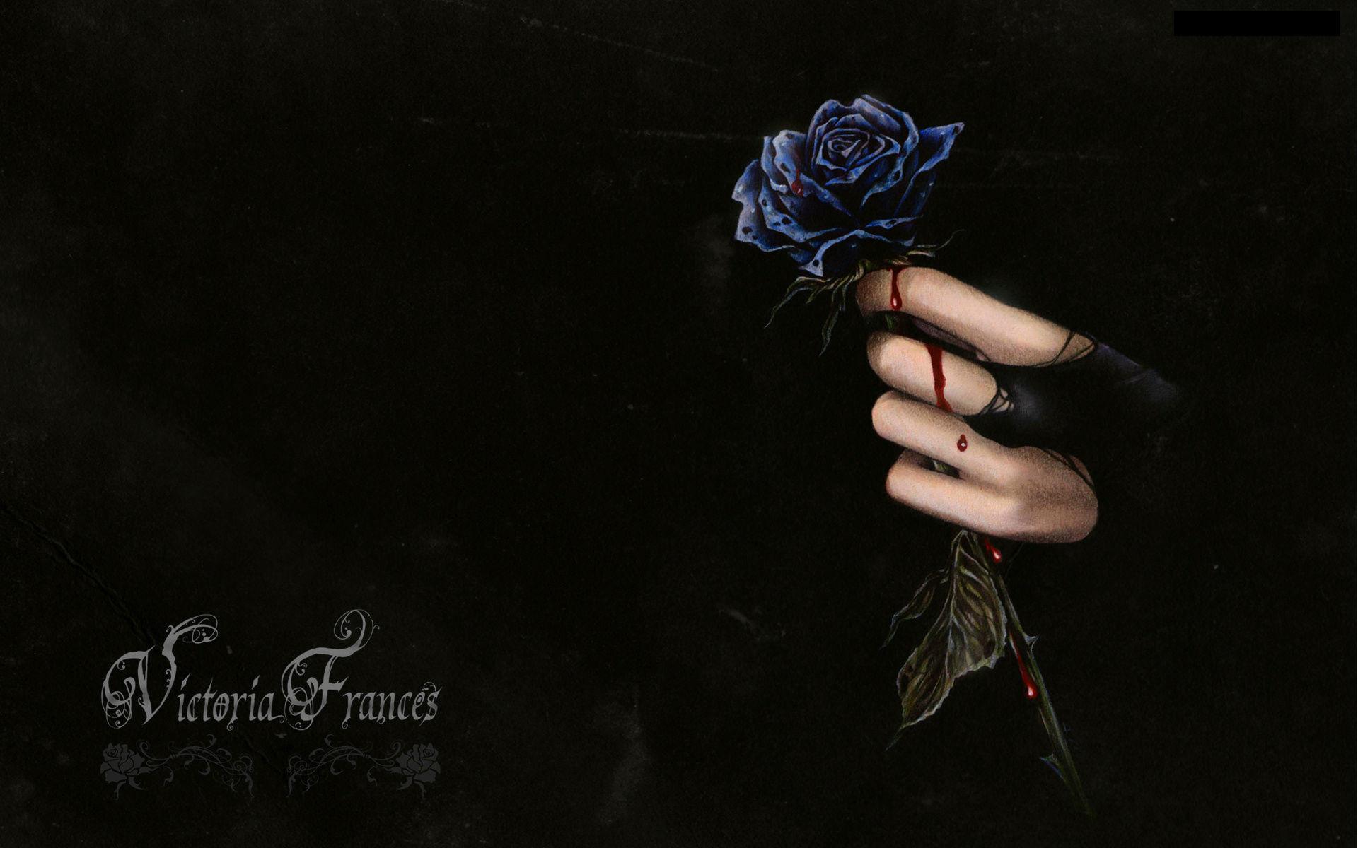 Dark horror fantasy gothic vampire blood flowers wallpaper 1920x1200 1920x1200