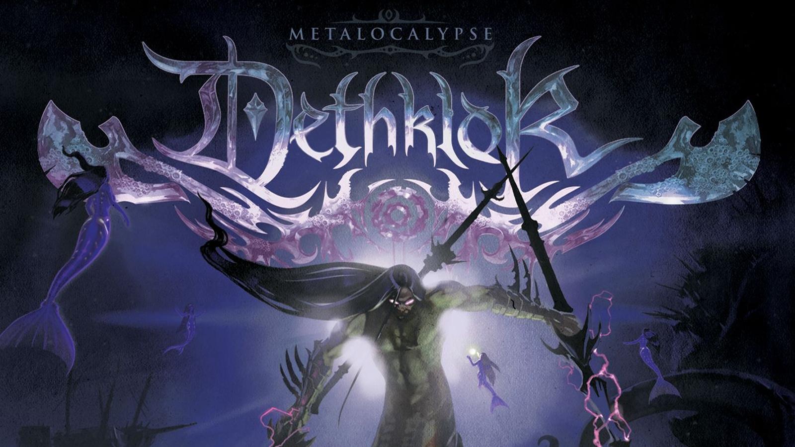 Dethklok heavy metal music cartoons hard rock band groups 1600x900