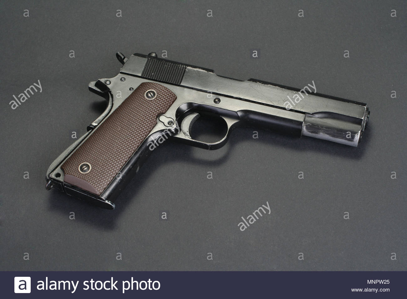 colt goverment M1911 on black background Stock Photo 185514061 1300x956