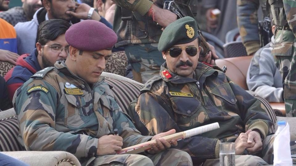 Unseen pictures of MS Dhoni dressed as Army man in Kashmir 960x539