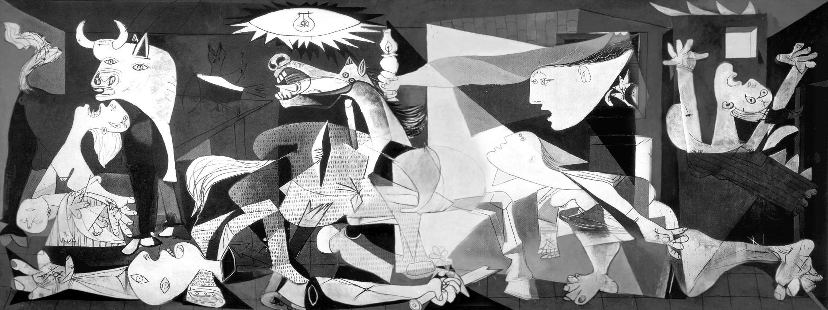 Guernica Wallpaper Art Pablo Picasso Wallpaper 3200x1200