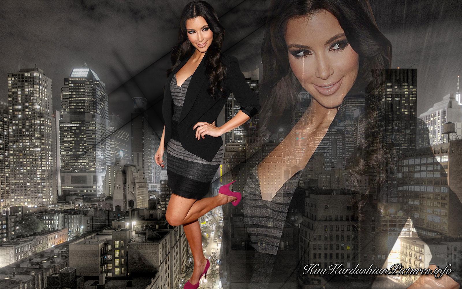 New Hollywood Style Kim Kardashian Wallpapers 1600x1000