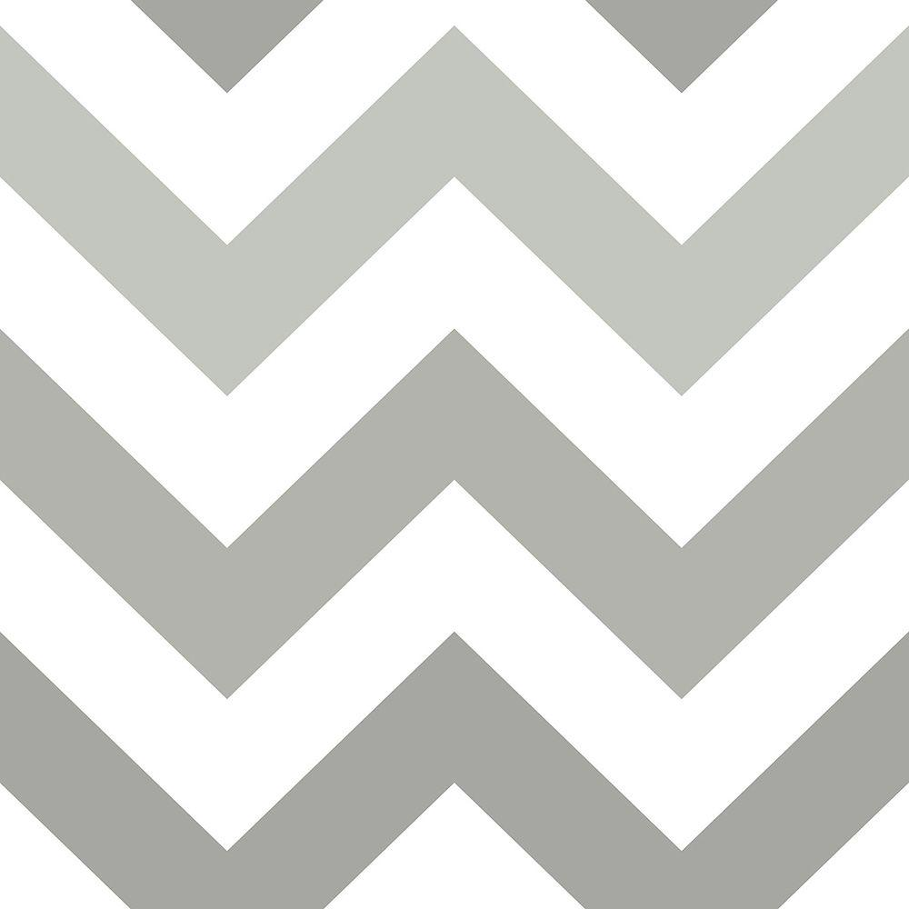 NuWallpaper Grey Zig Zag Peel and Stick Wallpaper NU1934   The 1000x1000