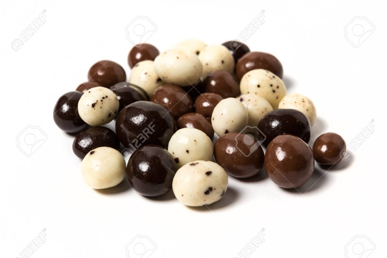 Chocolate Expresso Beans Isolated On White Background Stock Photo 1300x866