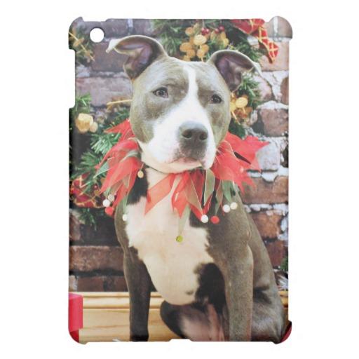 Christmas   Pitbull   Charm iPad Mini Case Zazzle 512x512
