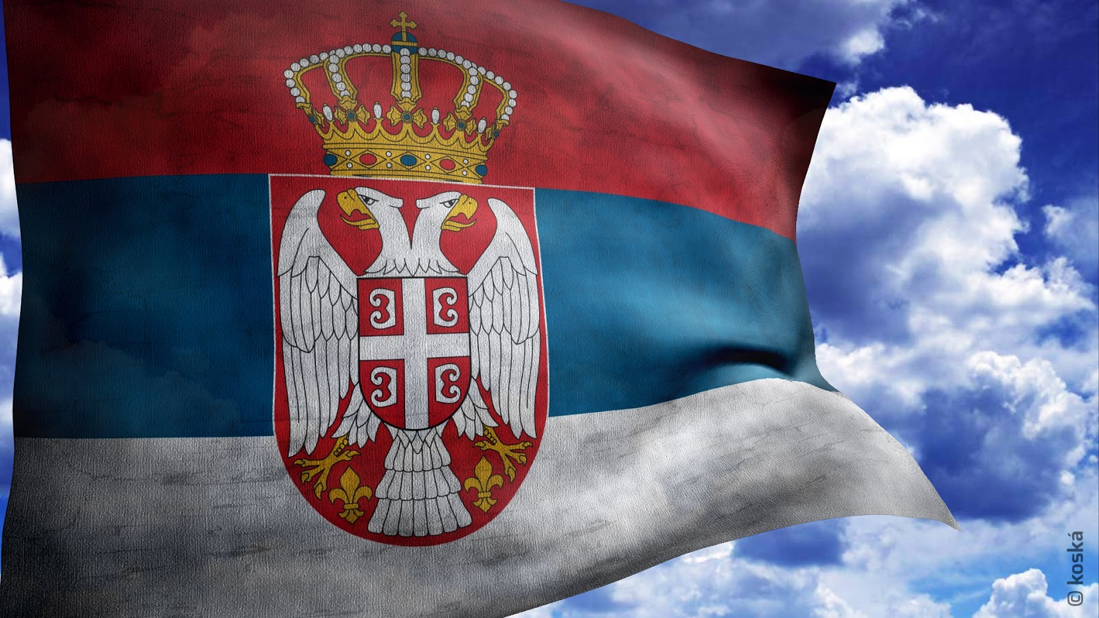 Zastava i grb Srbije   Serbian flag coat of arms Serbia Wallpapers 1600x900