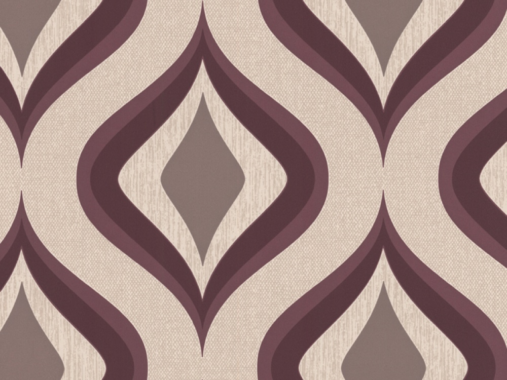 Delivery on Trippy Purple Mocha Geometric Wallpaper 1000x750