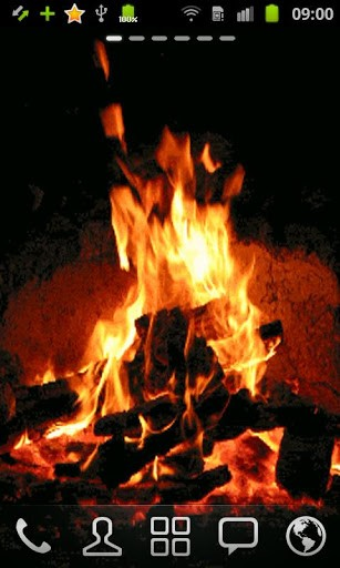 HD Fire live wallpaper gives you the joy of enjoying a real bonfire 307x512