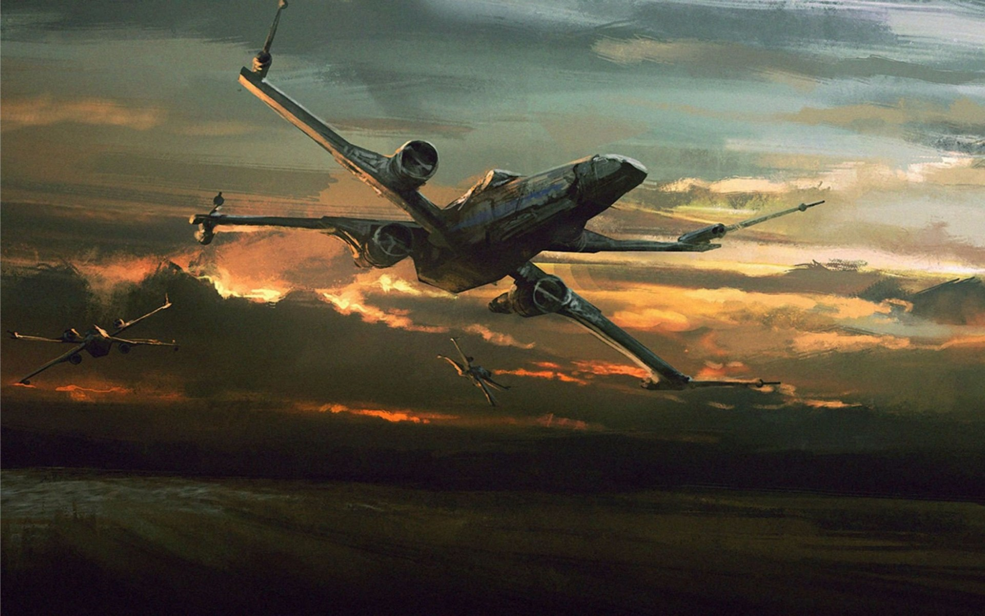 Best X Wing Fighter Star Wars The Force Awakens 4K 1920x1200