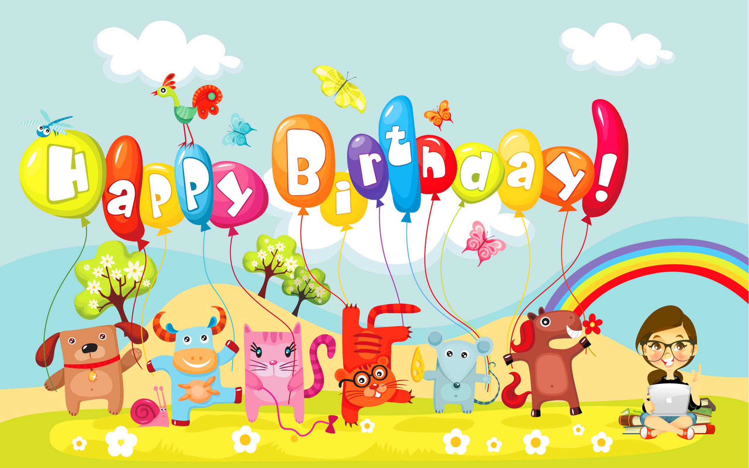 Happy Birthday computer desktop wallpaper 2560x1600