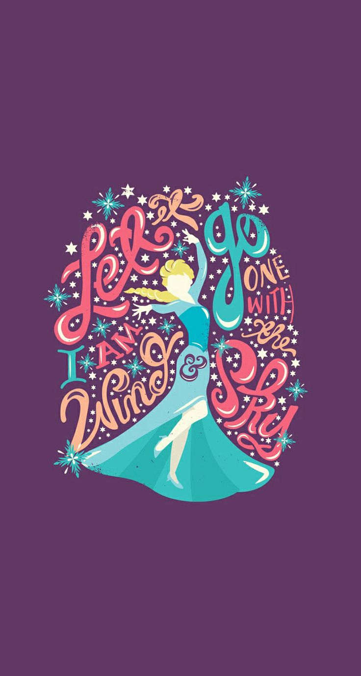 Disney Frozen wallpaper Quotes Art Disney Princess Elsa Frozen 736x1377