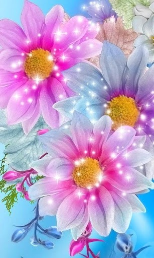 Download Glitter Flowers Live Wallpaper for Android by fulbourn apps 307x512