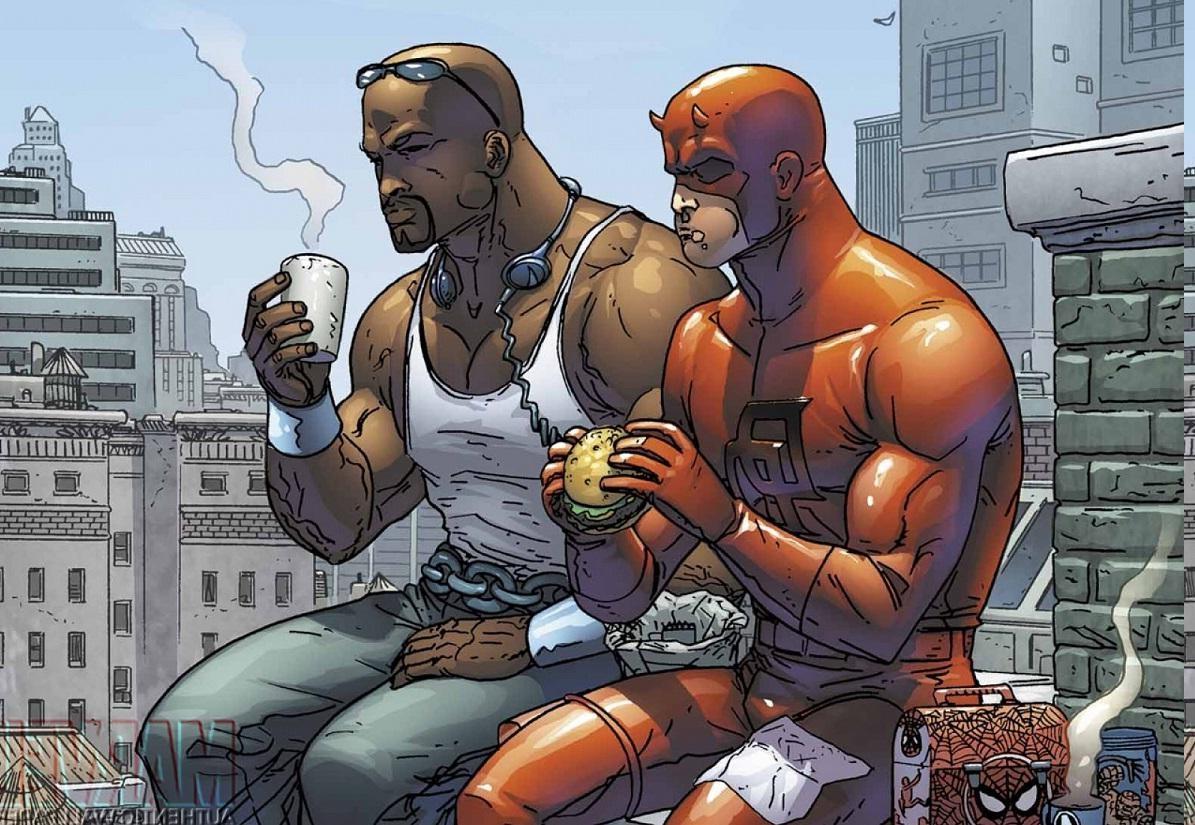Daredevil Luke Cage Power Man Comics Wallpapers HD 1195x825