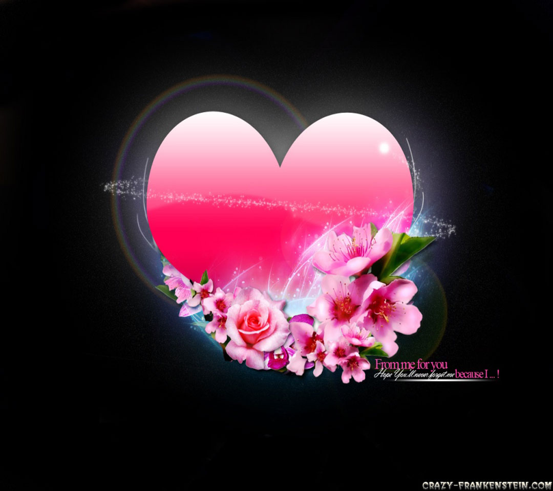 Related Pictures pink love 3d wallpaper flowers love 1080x960