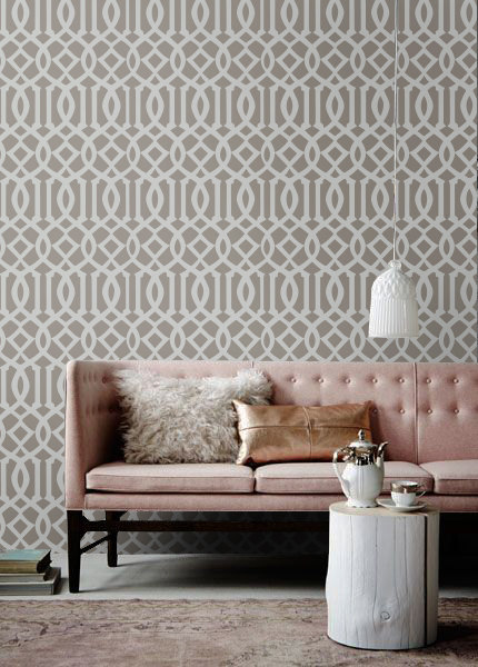 Self adhesive Removable wallpaper tapestry   Trellis wallpaper 430x600