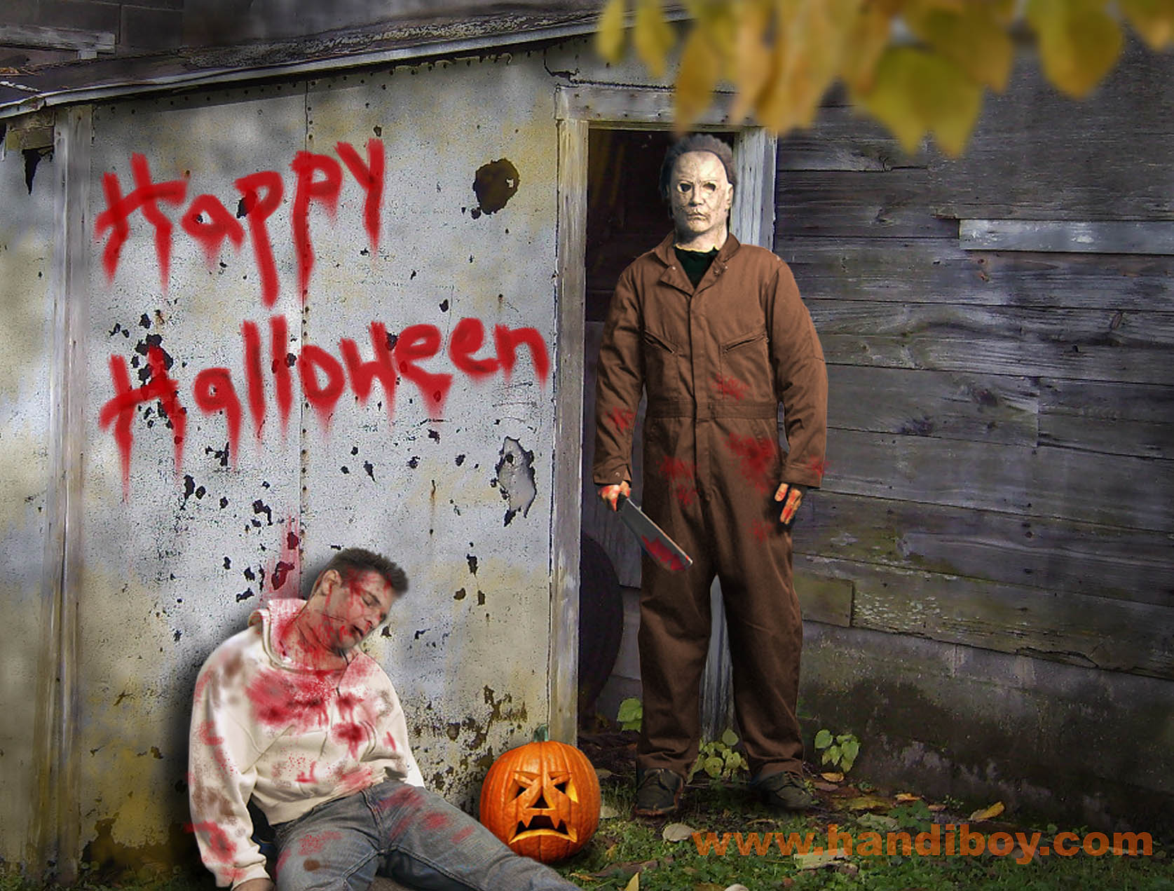 the super scary michael myers halloween live wallpaper with one of the