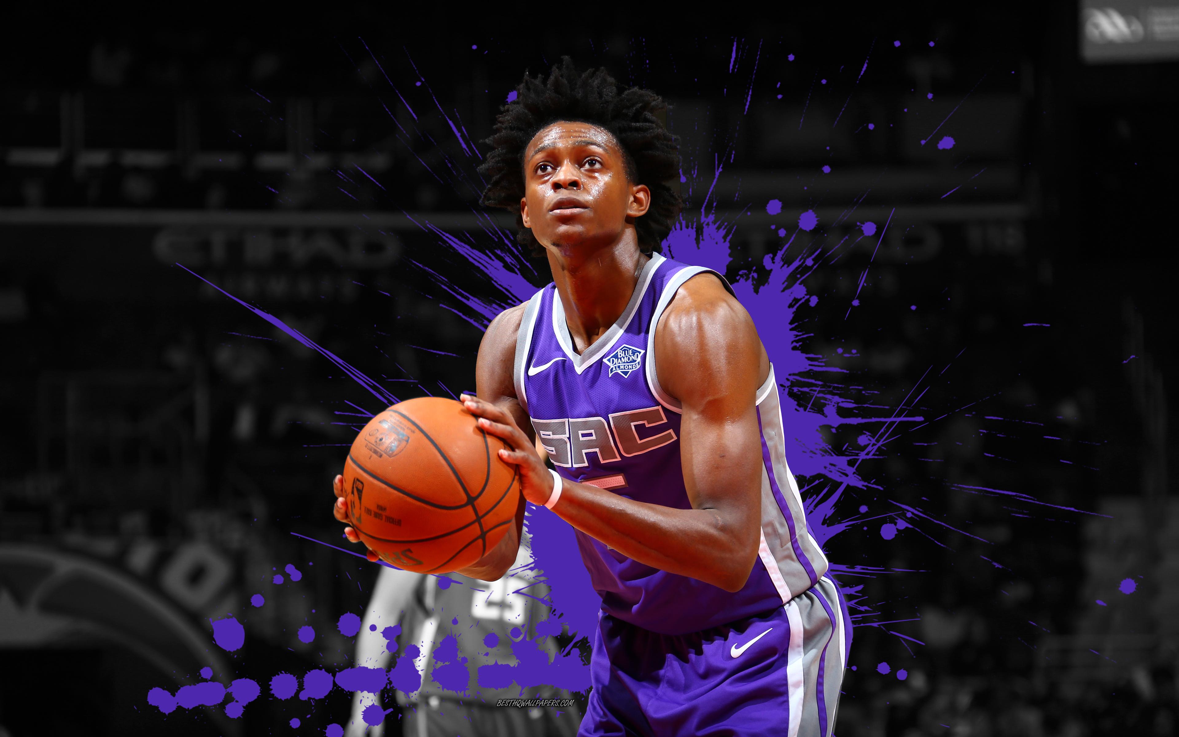 Download wallpapers DeAaron Fox 4k basketball players NBA 3840x2400