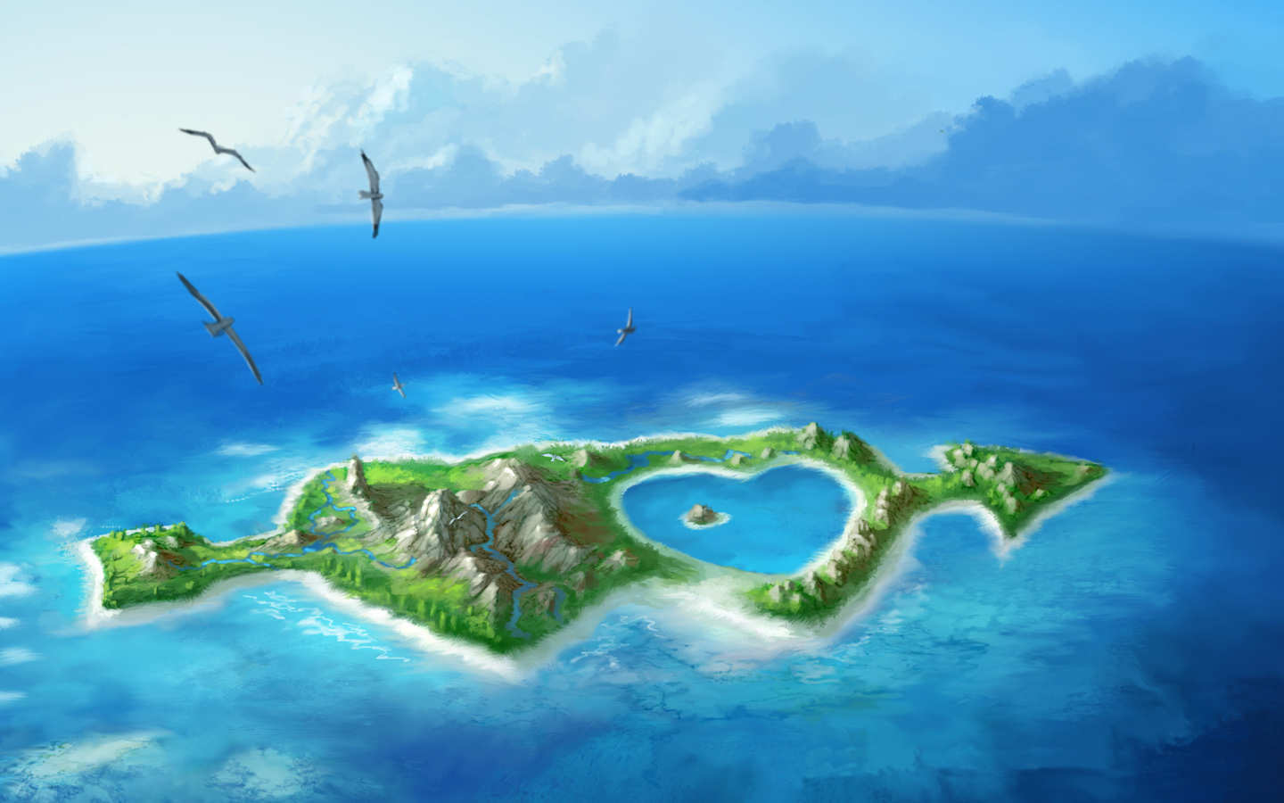 island wallpaper love wallpapers high res wallpapers island 1440x900
