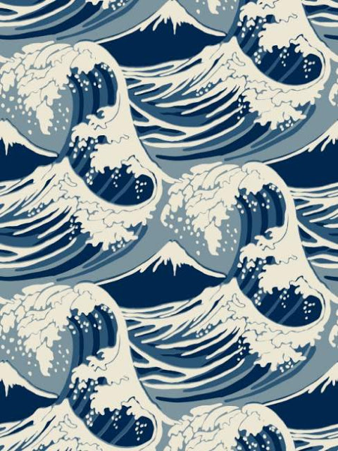 Japanese Wave Painting Wallpaper On the above wallpaper or