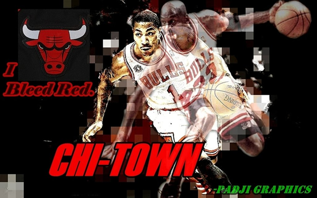 Derrick Rose Wallpaper by PadjiGraph17 1024x640