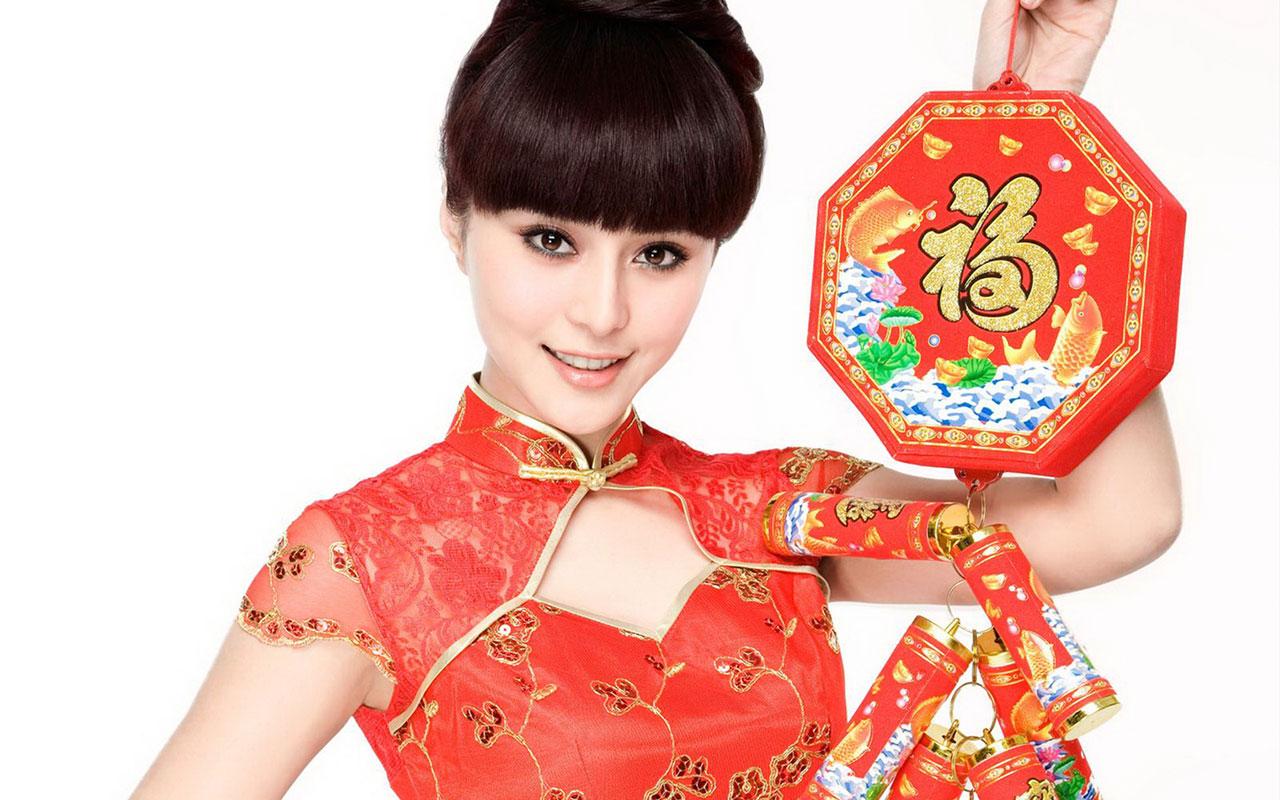 2011 Happy Chinese New Year  fan Bingbing 3 Wallpapers   Fan 1280x800