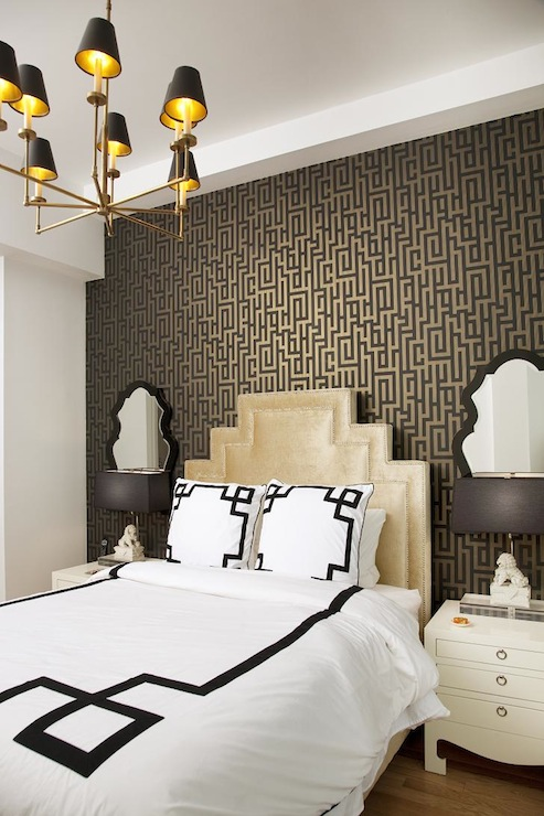 Wallpaper Accent Wall Dining Room Dining Room Contemporary With .