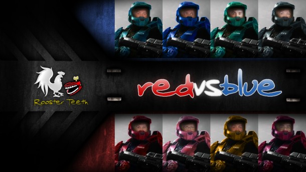 wallpaper for Red Vs Blue made with photoshop Comments are welcome 610x343