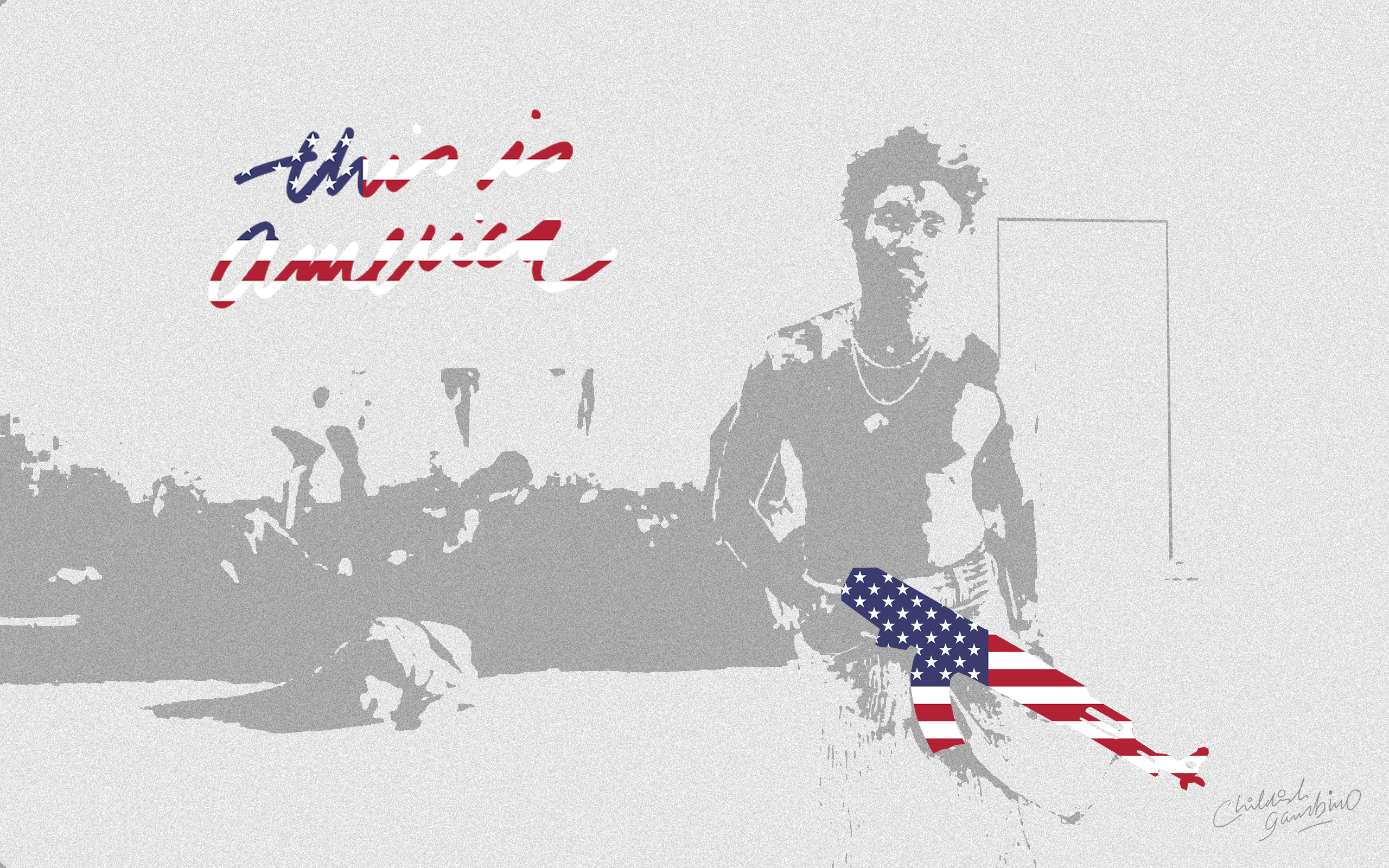 This is America posterwallpaper 2560x1600 donaldglover 2560x1600