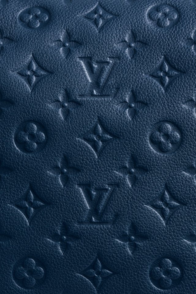 Lv Monogram Blue creative background for your iPhone download 640x960
