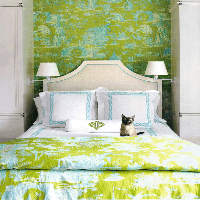 Matching Wallpaper And Fabric at Awesome Colorful Bedroom Design Ideas 800x800