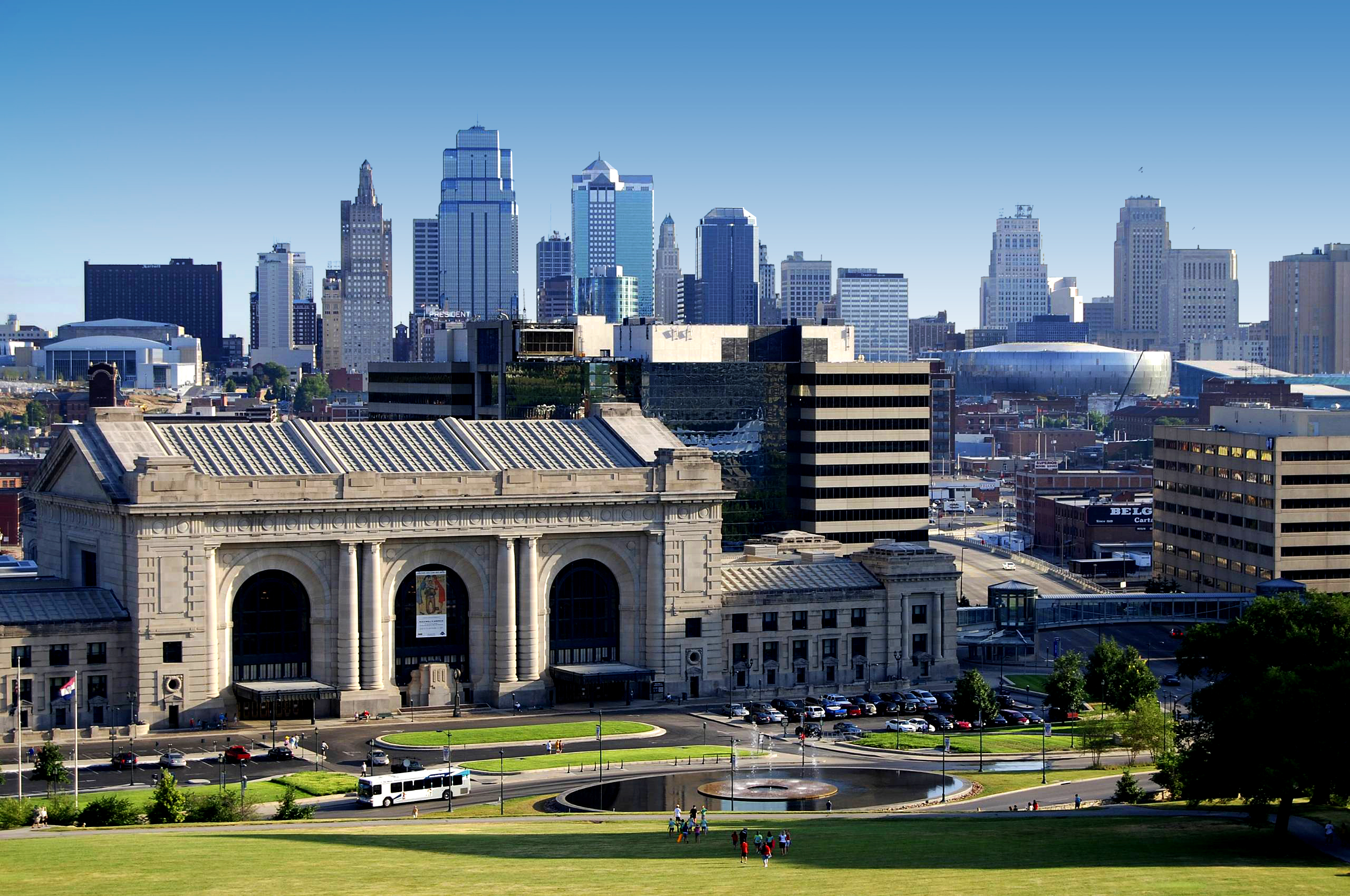 Kansas City Skyline Wallpaper Wallpapersafari