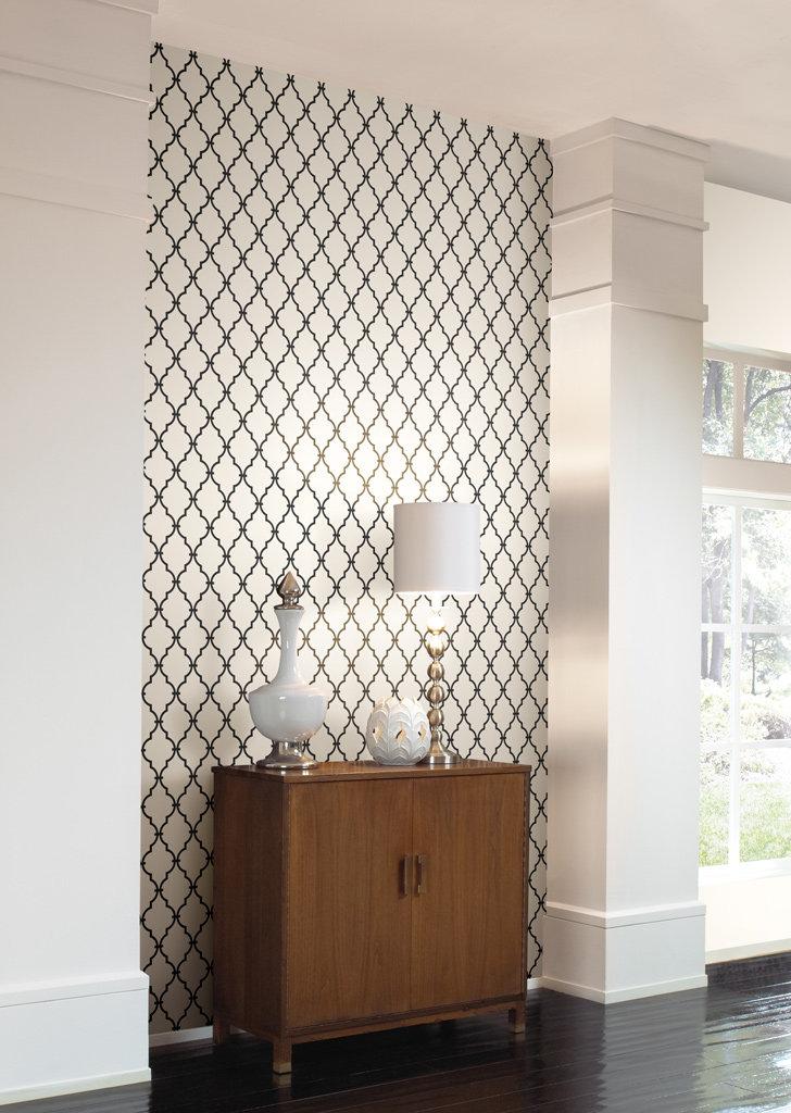 Grey And White Trellis Wallpaper 728x1024