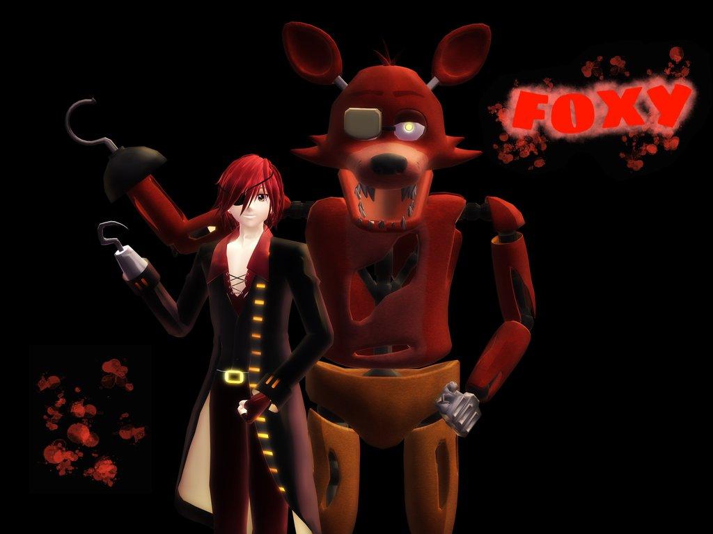 NaF Foxy Human MMD Models 1024x768