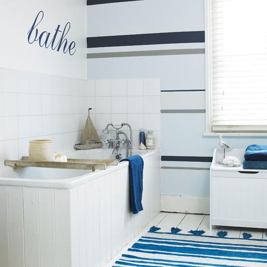striped bathroom wallpaper Bathroom wallpapers housetohomecouk 550x550