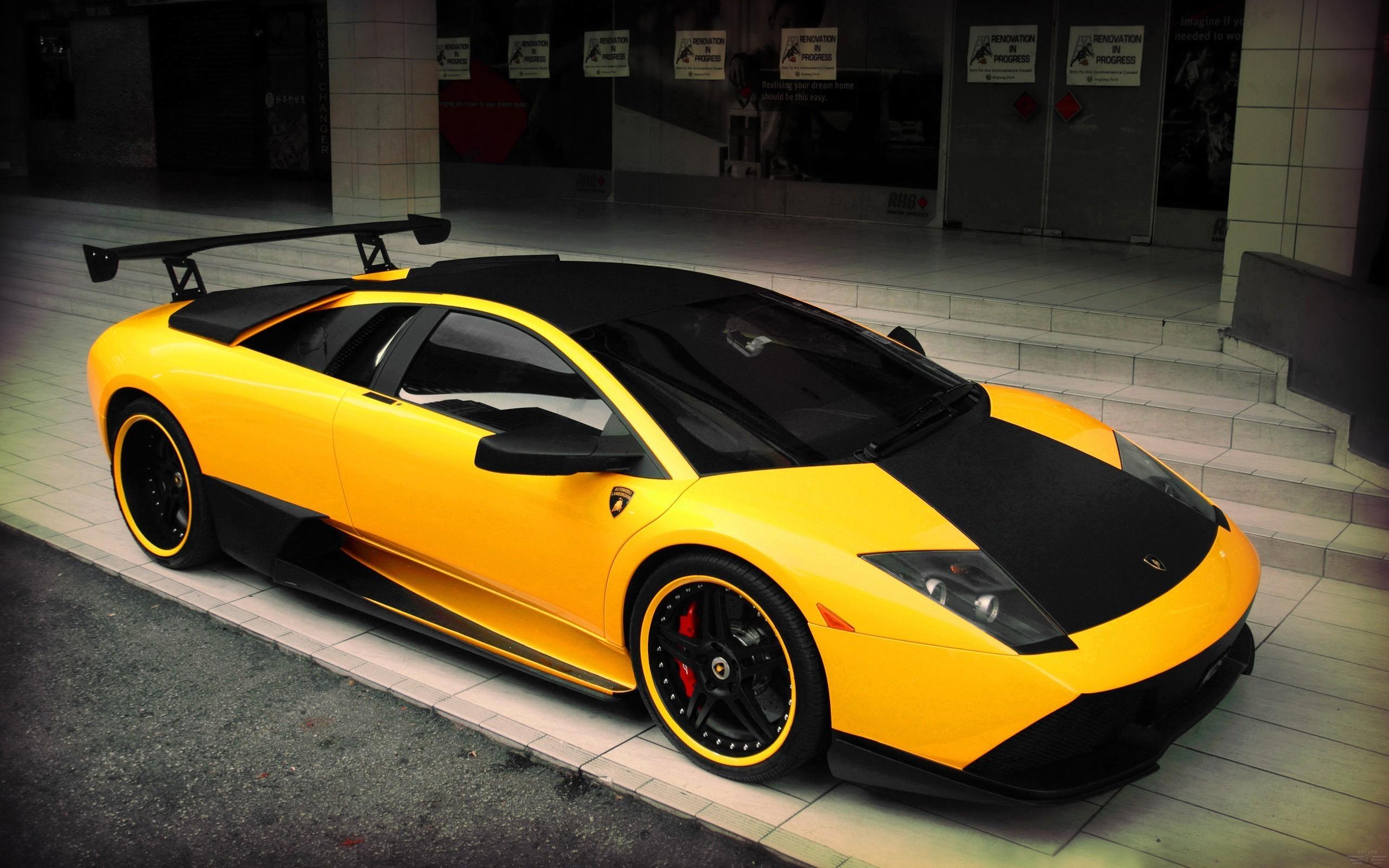 Yellow Lamborghini supercar wallpaper 2560x1600 2560x1600